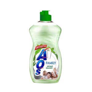 Жидкое моющее средство AOS Family Мятный эвкалипт