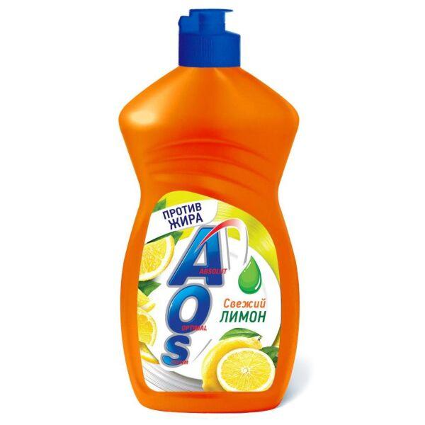 Жидкое моющее средство AOS Лимон