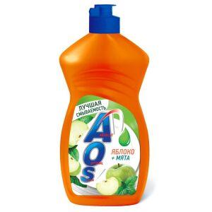 Жидкое моющее средство AOS Яблоко и мята